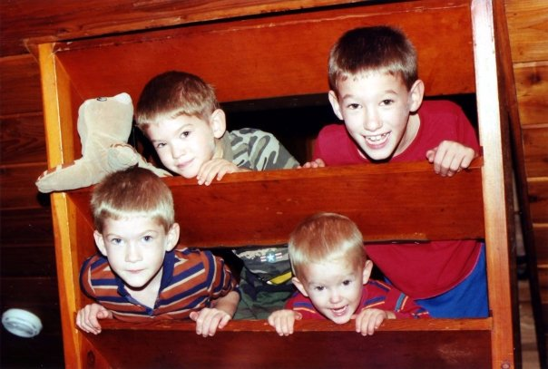 Our four boys growing up... (early 1990s)